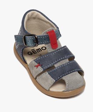 Sandales premiers pas bébé garçon en cuir vue5 - GEMO(BEBE DEBT) - GEMO