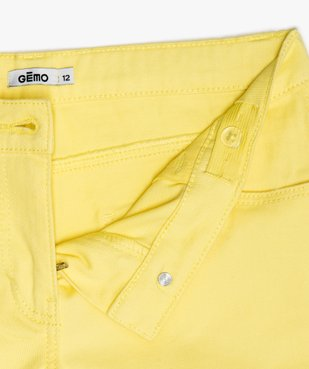 Short fille en coton extensible avec revers cousus vue3 - Nikesneakers (JUNIOR) - Nikesneakers