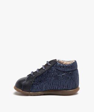 Chaussures premiers pas bébé avec motifs chats - Bopy vue3 - BOPY - Nikesneakers