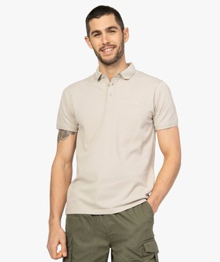Polo homme à manches courtes en maille fantaisie vue1 - Nikesneakers (HOMME) - Nikesneakers