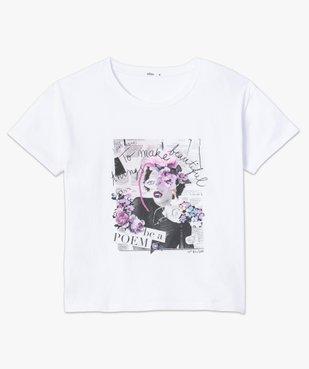 Tee-shirt femme avec motif positif vue4 - GEMO(FEMME PAP) - GEMO