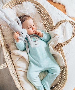Pyjama bébé en velours à pont-dos pressionné vue6 - GEMO C4G BEBE - GEMO