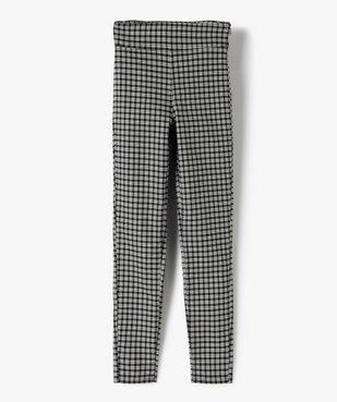 Pantalon fille en maille extensible avec ceinture plate vue1 - GEMO (JUNIOR) - GEMO