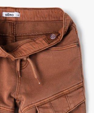 Pantalon garçon multipoches avec taille élastiquée vue3 - GEMO (ENFANT) - GEMO