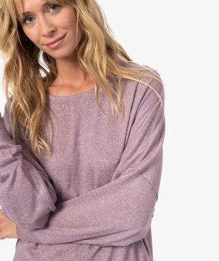 Haut de pyjama femme à manches chauve-souris vue2 - GEMO(HOMWR FEM) - GEMO