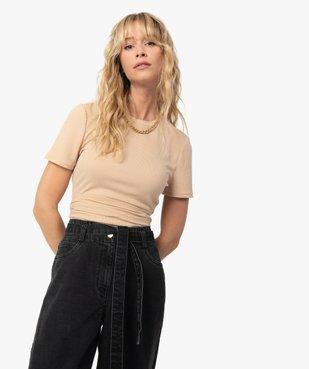 Tee-shirt femme avec lien à nouer - LuluCastagnette vue3 - LULUCASTAGNETTE - GEMO