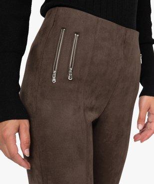 Pantalon femme en velours coupe ajustée vue2 - GEMO(FEMME PAP) - GEMO