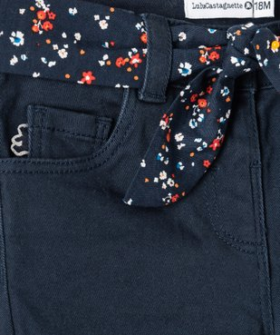 Pantalon bébé fille à ceinture fleurie - Lulu Castagnette vue2 - LULUCASTAGNETTE - GEMO