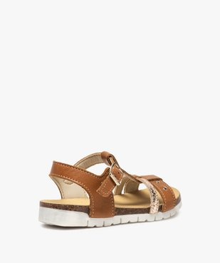 Sandales fille dessus cuir à semelle contrastante - Bopy vue4 - BOPY - GEMO
