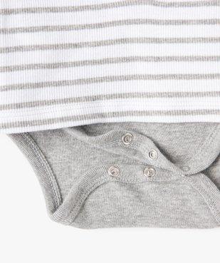 Body bébé à manches longues effet tee-shirt vue3 - GEMO(BB COUCHE) - GEMO