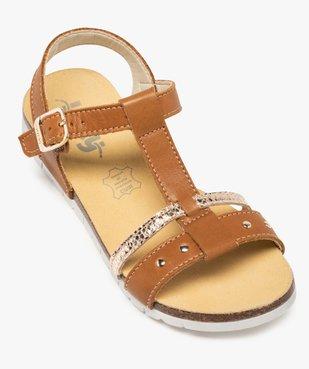 Sandales fille dessus cuir à semelle crantée - Bopy vue5 - BOPY - GEMO