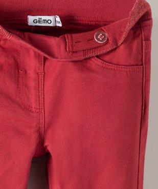 Jegging bébé fille à taille réglable et ceinture pailletée vue2 - GEMO(BEBE DEBT) - GEMO