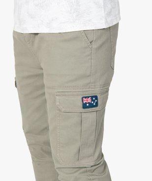 Pantalon homme cargo à taille élastiquée - Roadsign vue2 - ROADSIGN - GEMO