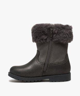 Boots fille zippés à col rembourré – La Reine des Neige vue3 - REINE DES NEIGE - GEMO