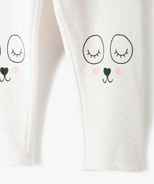 Pantalon bébé fille en maille avec motif fantaisie vue2 - GEMO C4G BEBE - GEMO