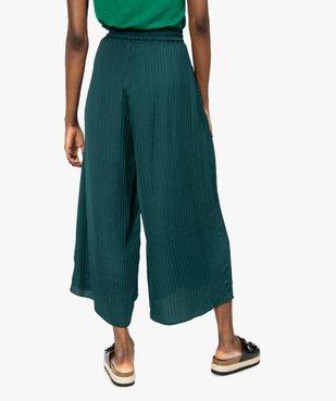 Pantalon femme plissé en matière satinée vue3 - GEMO(FEMME PAP) - GEMO