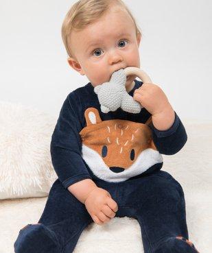 Pyjama bébé en velours avec ouverture devant vue6 - GEMO C4G BEBE - GEMO