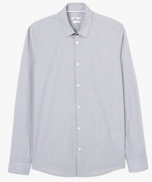 Chemise homme rayée coupe slim en coton stretch vue4 - GEMO (HOMME) - GEMO