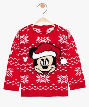 Pull de Noël bébé garçon en jacquard motif Mickey - Disney vue1 - DISNEY DTR - GEMO