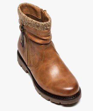 Boots fille à col en maille et semelle crantée vue5 - GEMO (ENFANT) - GEMO