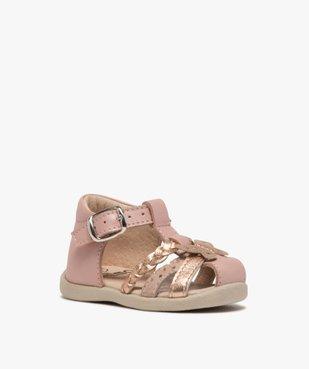 Sandales premiers pas bébé fille en cuir vue2 - Nikesneakers(BEBE DEBT) - Nikesneakers