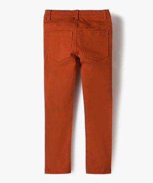 Pantalon garçon coupe skinny en toile extensible vue4 - GEMO (ENFANT) - GEMO
