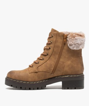 Boots fourrées femme à col rembourré et semelle crantée vue4 - GEMO (CASUAL) - GEMO