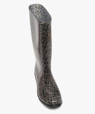 Bottes de pluie femme à motifs tachetés et paillettes vue5 - GEMO (EQUIPT) - GEMO