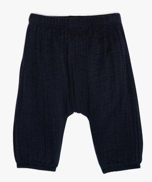 Pantalon bébé confort en lange 100% coton biologique vue3 - GEMO C4G BEBE - GEMO