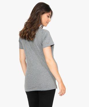 Tee-shirt de grossesse à manches courtes et imprimé fantaisie vue3 - GEMO (MATER) - GEMO