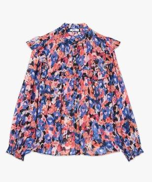 Chemise femme en voile à motifs fleuris avec finitions volantées vue4 - GEMO(FEMME PAP) - GEMO