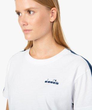 Tee-shirt femme à manches courtes en coton bio - Diadora vue2 - DIADORA - GEMO