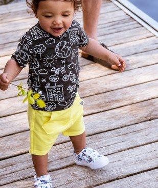 Short bébé garçon avec poche kangourou vue6 - GEMO C4G BEBE - GEMO
