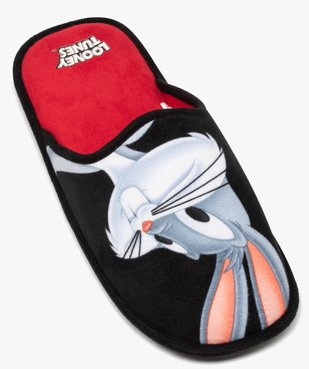 Chaussons homme mules en velours ras – Bugs Bunny vue5 - LOONEY TUNES - GEMO