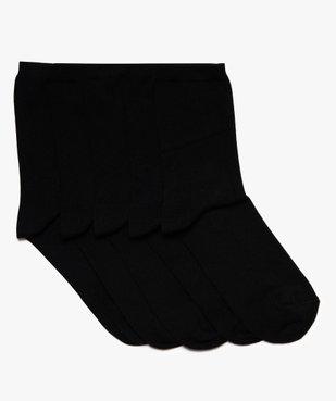 Chaussettes hautes garçon coloris uni (lot de 5) vue1 - GEMO (ENFANT) - GEMO