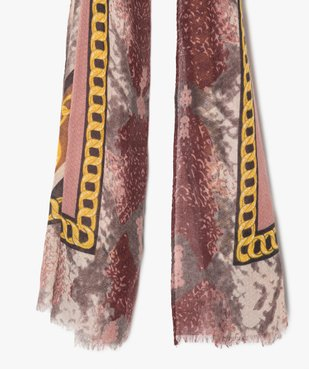 Foulard femme multicolore avec motifs chaines vue2 - Nikesneakers (ACCESS) - Nikesneakers