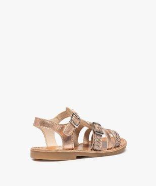 Sandales fille à brides métallisées ajustables - Bopy vue4 - BOPY - GEMO