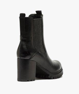 Boots femme à talon carré et tige unie – Tom Tailor vue4 - TOM TAILOR - GEMO