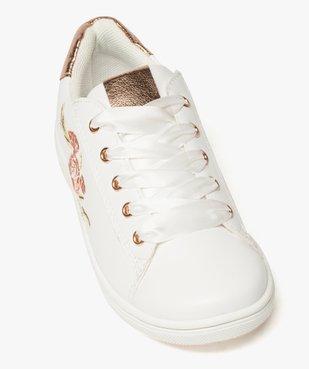 Baskets fille avec motif rose brodé et lacets rubans vue5 - Nikesneakers (ENFANT) - Nikesneakers