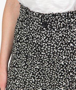 Short femme imprimé avec taille haute élastiquée  vue2 - GEMO(FEMME PAP) - GEMO