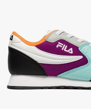 Baskets fille running colorées à lacets élastiques - Fila vue6 - FILA - GEMO