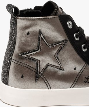 Baskets fille semi-montantes métallisées – LuluCastagnette vue6 - LULU CASTAGNETT - Nikesneakers