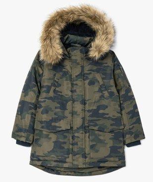 Parka garçon déperlante et multipoche à doublure chaude imprimé camouflage vue1 - Nikesneakers (ENFANT) - Nikesneakers