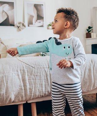 Pyjama bébé garçon en velours à manches fantaisie vue6 - GEMO(BB COUCHE) - GEMO