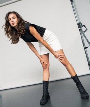 Tee-shirt femme à épaulettes sans manches vue5 - GEMO(FEMME PAP) - GEMO