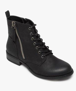 Boots femme style rangers à zip vue5 - GEMO (CASUAL) - GEMO