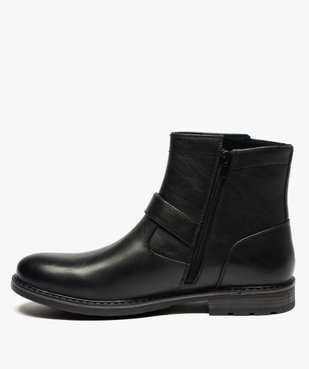 Boots homme à boucles décoratives et doublure chaude vue3 - GEMO (CASUAL) - GEMO