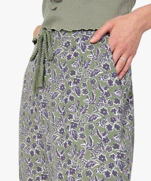 Pantalon de pyjama femme à motifs fleuris vue2 - GEMO(HOMWR FEM) - GEMO