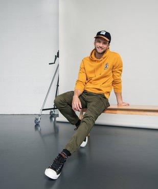 Pantalon homme cargo multipoche au coloris unique vue6 - Nikesneakers (HOMME) - Nikesneakers