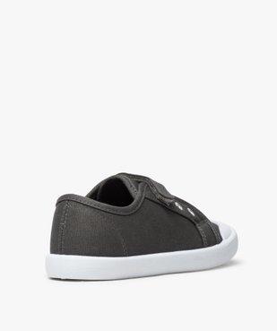 Chaussures basses garçon en toile fermeture à scratch vue4 - GEMO (ENFANT) - GEMO